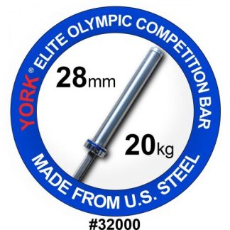 York Barbell Men's 7' Elite Olympic Competition Bar