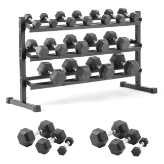 York 2.5-25KG DUMBBELL SET AND RACK