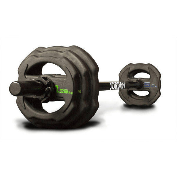 Jordan Fitness Ignite V2 Rubber Studio Barbell Sets & Plates