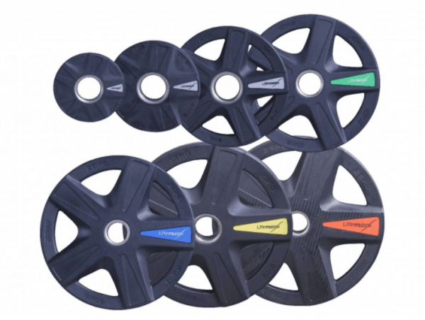 Lifemaxx LMX92 Olympic Disc - black - 5-Grip Model (1.25 - 25kg)