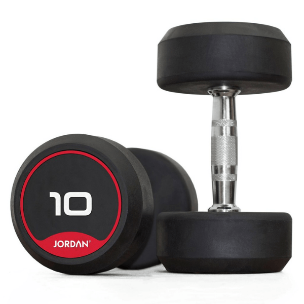 Jordan Fitness Classic Rubber Dumbbells Pairs