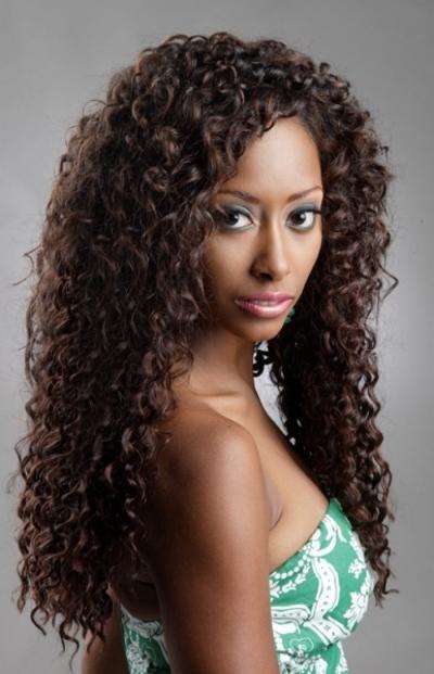 natural long curls