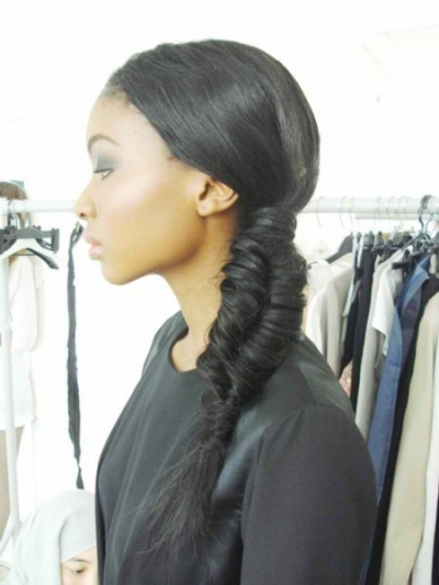 thick fishtail braid