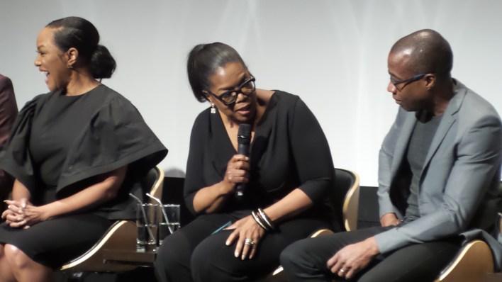 Oprah Winfrey with the Greenleaf cast.