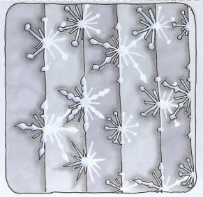 Snowflakes - 2 - coloured