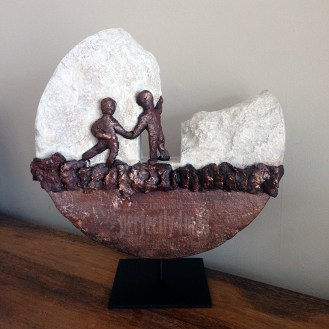 Powertex Stone Art - first project