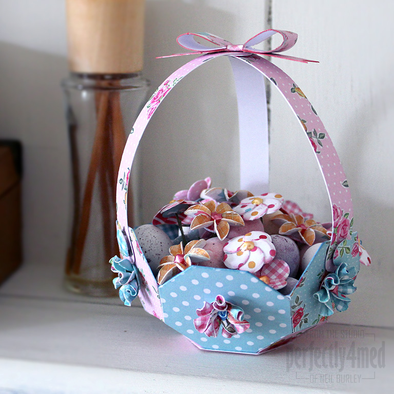 Kitsch easter basket perfectly4med artist at workperfectly4med easter basket ive done another 3d item using the craftwork cards kitsch kit recently featured on create and craft tv i recommend leaving buying the mini negle Choice Image