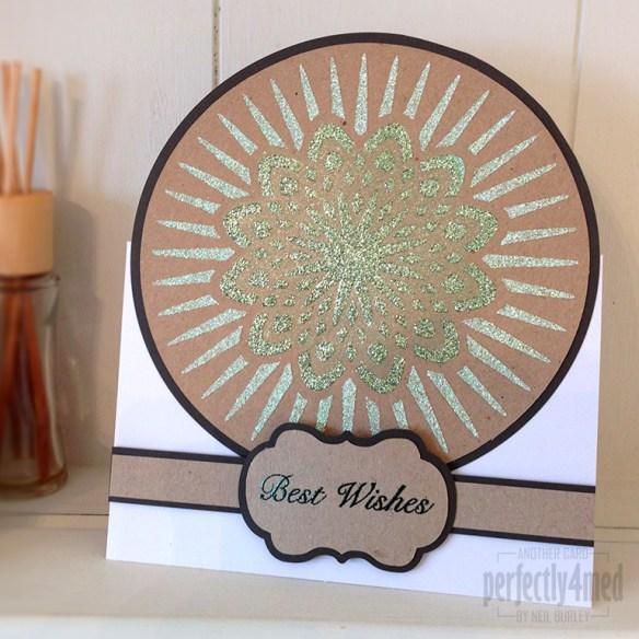 Glittering Starburst Card