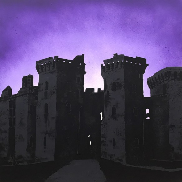 Raglan Castle painting