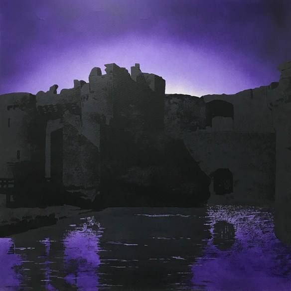 Beaumaris Castle painting