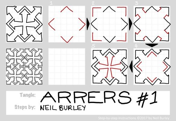 Arrers #1 tangle pattern