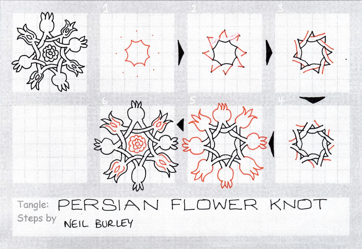 Persian Flower Knot Tangle Pattern Perfectly4med
