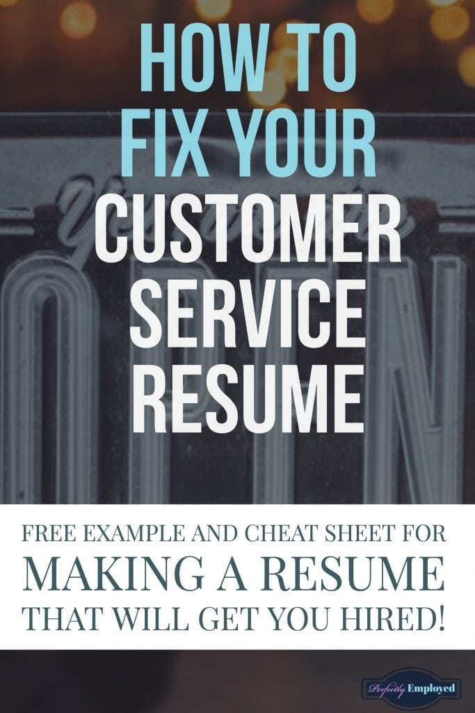 How to fix your customer service resume