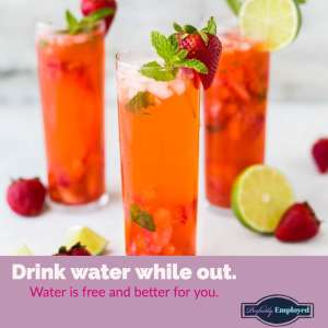 Drink water while out