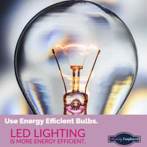 Use Energy efficient bulbs