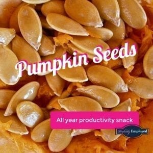 Eat pumpkin seeds to boost productivity
