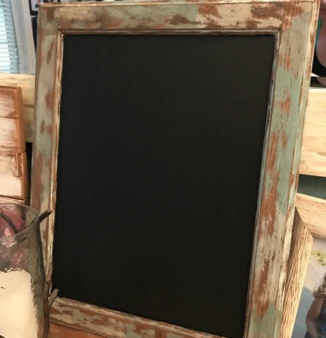 Easy DIY Rustic Chalkboard  Perfectly Inspired