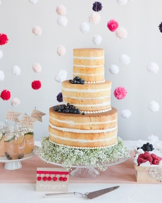 Wedding Trend: Cakes going Au Natural
