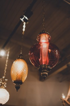 The Foundry by Herban Feast wedding in Seattle | Mid-century modern, colored glass chandeliers | Perfectly Posh Events | Carina Skrobecki Photography | Vintage Ambiance