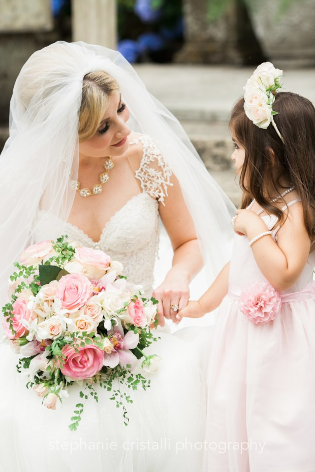 Thornewood Castle Wedding in Seattle | Seattle bride with flower girl | Perfectly Posh Events, Seattle Wedding Planner | Stephanie Cristalli Photography | Aria Style