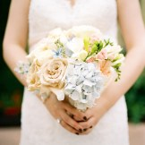 Inglewood Golf Club wedding in Seattle | Pale blue hydrangeas and blush roses and peony bouquet | Perfectly Posh Events, Seattle Wedding Planning | Mastin Studios | Lola Event Floral & Design