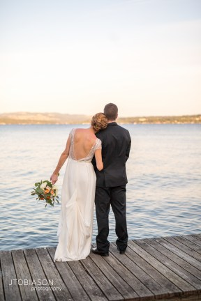 Seattle Tennis Club wedding in Seattle | Bride & Groom overlooking Lake Washington | Perfectly Posh Events, Seattle Wedding Planner | JTobiason Photography