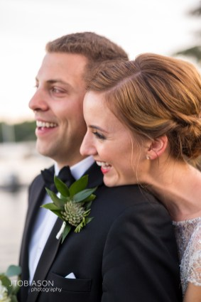 Seattle Tennis Club wedding in Seattle |Seattle bride & groom headshot overlooking Lake Washington | Perfectly Posh Events, Seattle Wedding Planner | JTobiason Photography