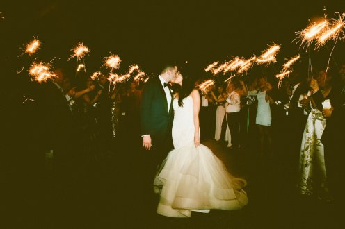 DeLille Cellars wedding in Woodinville | Couple send-off with sparklers | Perfectly Posh Events | Seattle Wedding Planner | Andria Lindquist Photography