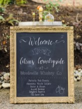 Alante Photography | Seattle Wedding Planner | Black chalkboard with gold frame | Perfectly Posh Events