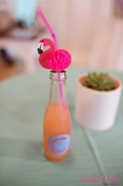 Seattle Wedding Show, I Do Sodo | Pink Flamingo straws in grapefruit soda | Perfectly Posh Events | Barbie Hull Photography | City Catering