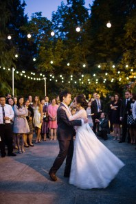 Robinswood House Wedding in Bellevue | Outdoor wedding reception with bistro lights | Perfectly Posh Events, Seattle Wedding Planner | Courtney Bowlden Photography