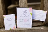 Robinswood House Wedding in Bellevue | Floral invitation suite | Perfectly Posh Events, Seattle Wedding Planner | Courtney Bowlden Photography