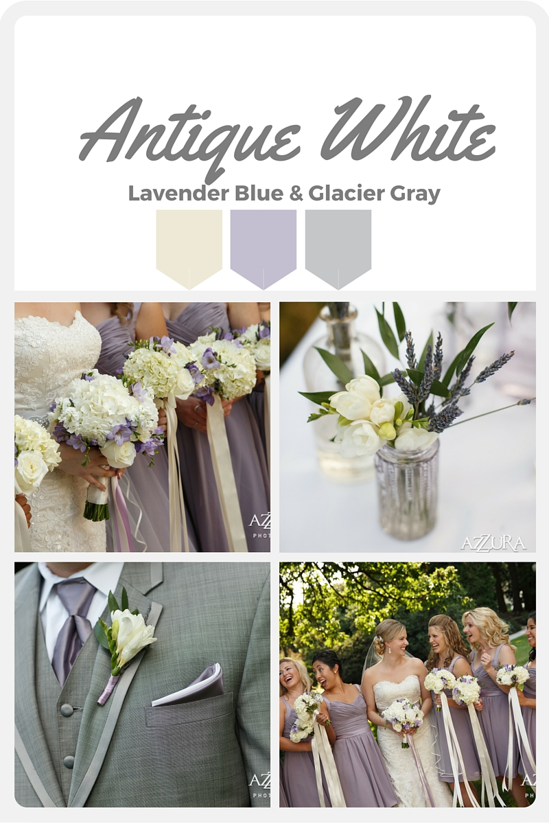 White Wedding Color Swatches from Pantone | Real wedding with Pantone color, Antique White | Design + Coordination by Perfectly Posh Events | Azzura Photography | Flowers by Sublime Stems