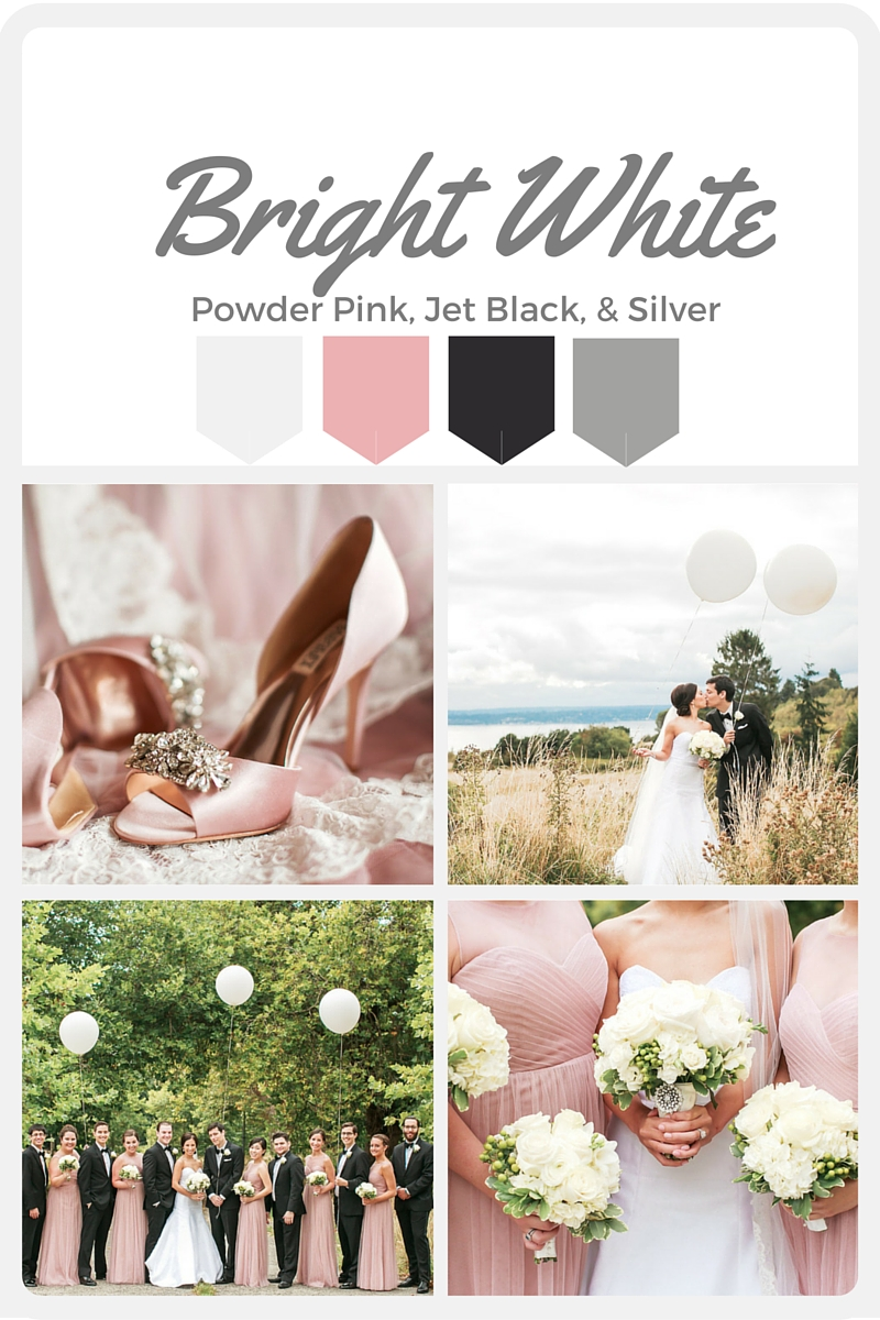 White Wedding Color Swatches from Pantone | Real wedding with Pantone color, Bright White | Coordinated by Perfectly Posh Events | Amanda Lloyd Photography | Flowers by Martha Harris