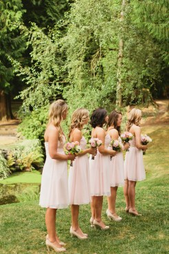 DeLille Cellars wedding in Woodinville | Petal pink bridesmaid dresses | Perfectly Posh Events | Lucid Captures Photography | Bella Signature Design