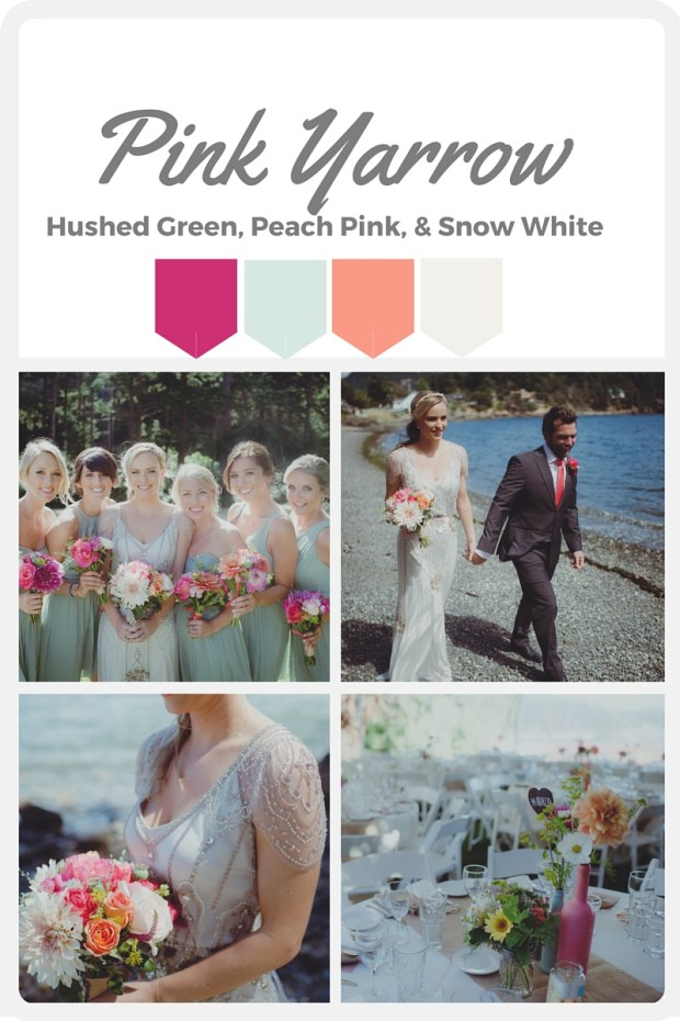 Pink Wedding Color Swatches from Pantone | Real wedding with Pantone color, Pink Yarrow | Coordinated by Perfectly Posh Events | Carly Bish Photography
