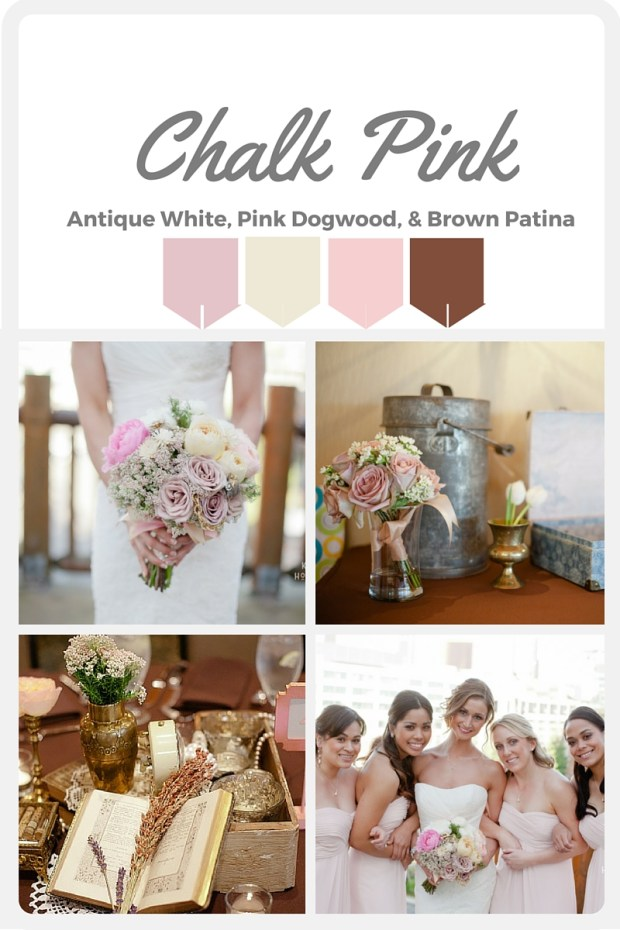 Pink Wedding Color Swatches from Pantone | Real wedding with Pantone color, Chalk Pink | Coordinated by Perfectly Posh Events | Kristen Honeycutt Photography | Floral Design by