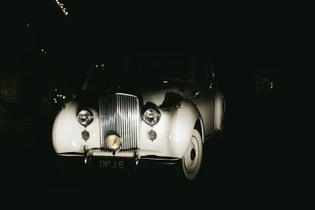 DeLille Cellars Wedding in Woodinville, WA | Vintage Rolls Royce getaway car | Perfectly Posh Events | Lucid Captures Photography | British Motor Coach