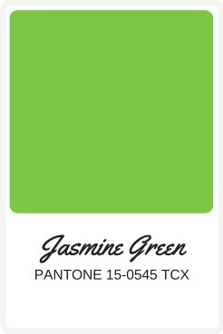 Shades of Green to use in your wedding | Pantone Color, Jasmine Green | Perfectly Posh Events
