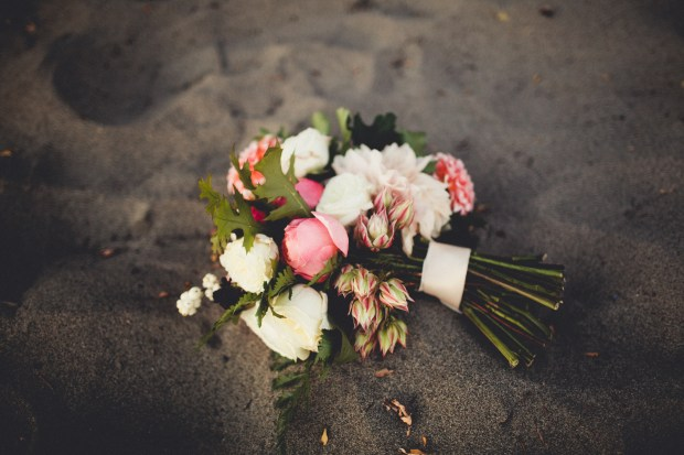 Pink and White wedding bouquet by Stacy Anderson Design, dahlias and ranuculus | Golden Gardens Bathouse Wedding | Perfectly Posh Events, Seattle Wedding Planner | Andria Linquist Photography | Holly + Dustin Wedding // © Andria Lindquist 2014