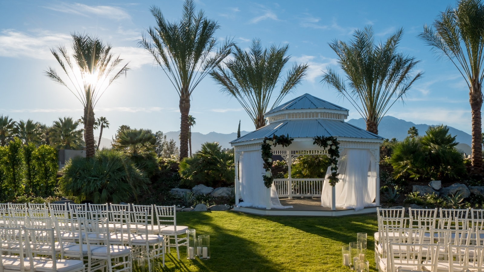 The Westin Misson Hills Golf Resort and Spa, Palm Springs wedding | ceremony set up | Perfectly Posh Events, Seattle and Portland Wedding Planner