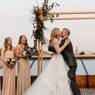 Romantic Rooftop Wedding at Fremont Foundry