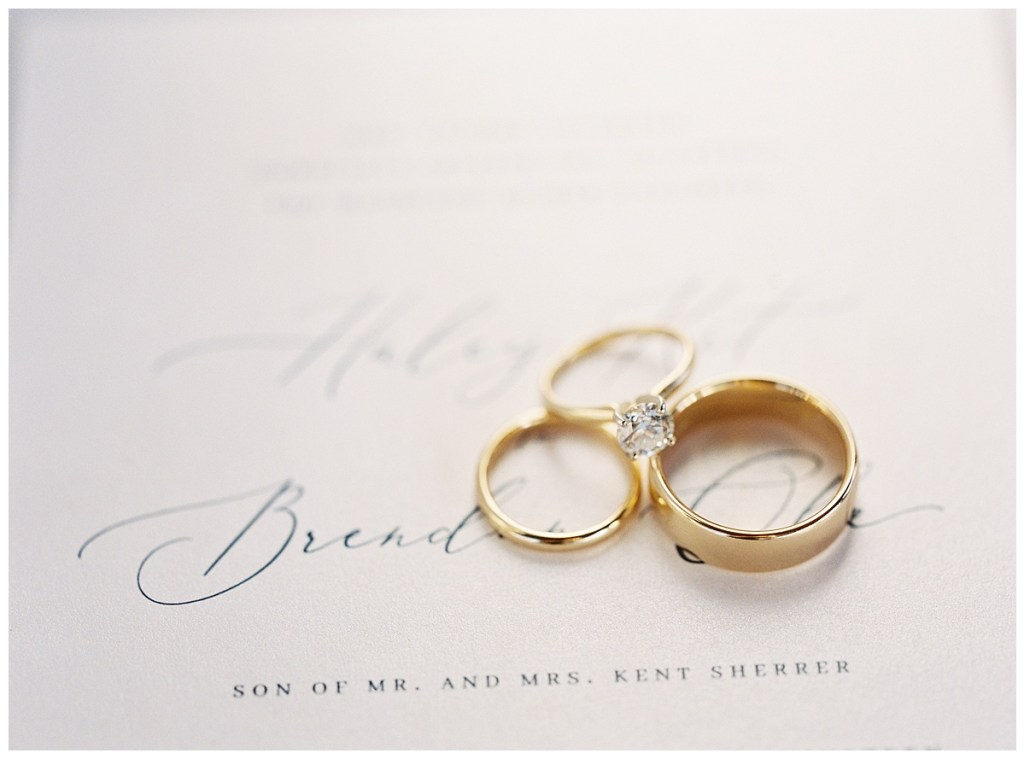 Wedding ring and gold wedding band for Pacific Northwest wedding in Seattle, WA.