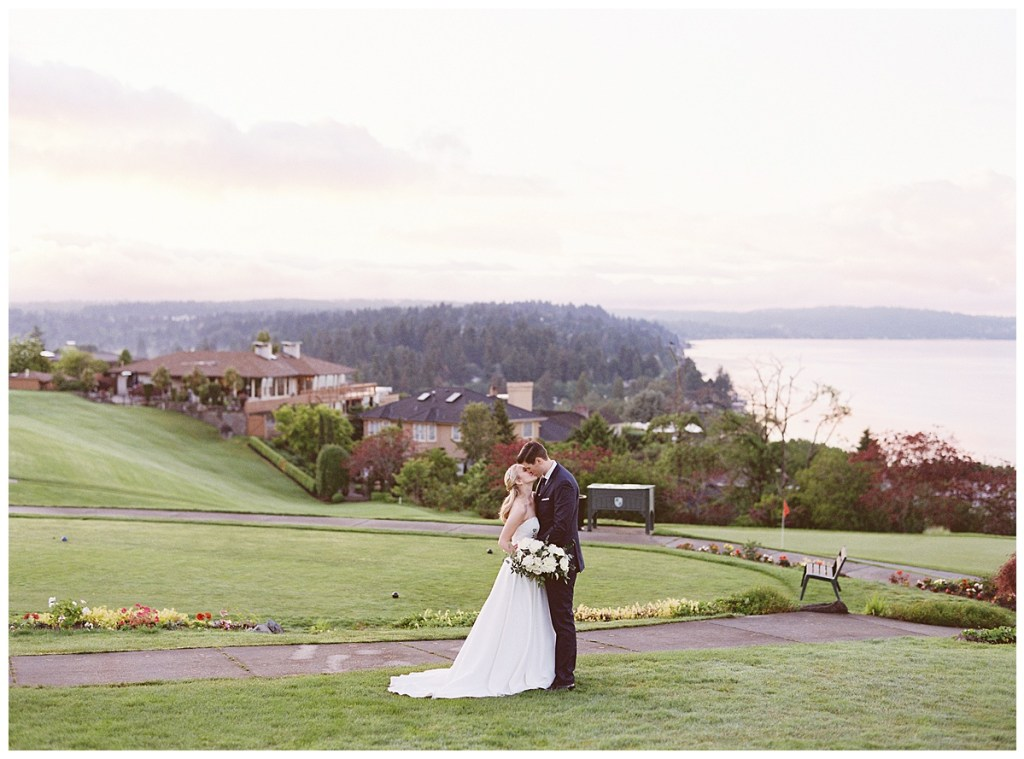 Golf course wedding reception at Sand Point Country Club in Seattle, WA.