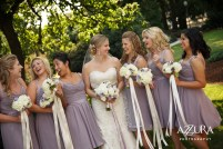 Laurel Creek Manor Wedding in Seattle  Short lavender bridesmaids dresses with white and purple bouquets   Perfectly Posh Events, Seattle Wedding Planner   Azzura Photography   Sublime Stems