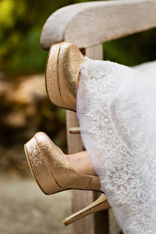 Robinswood House Wedding in Bellevue   Gold glitter bridal shoes, pumps   Perfectly Posh Events, Seattle Wedding Planner   Courtney Bowlden Photography