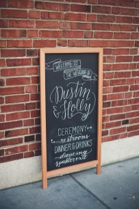 calligraphy direction sign   Golden Gardens Bathouse Wedding   Perfectly Posh Events, Seattle Wedding Planner   Andria Linquist Photography   Holly + Dustin Wedding // © Andria Lindquist 2014