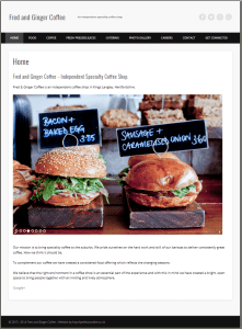 Website Design Kings Langley - Fred & Ginger Coffee