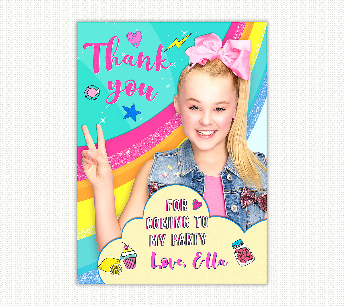 jojo siwa thank you cards archives