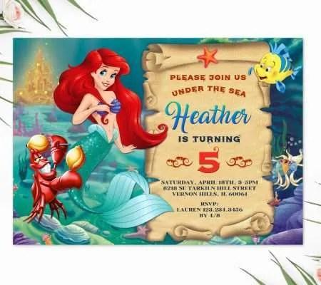 mermaid invitations archives perfect